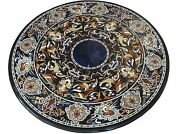 42 Marble Dining Table Top Inlay Rare Stones Round Center Coffee Table Ar1299