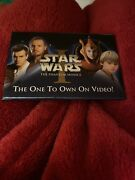 Vintage Star Wars Pinback The One To Own On Video 3 X 2 2000 Lucasfilm