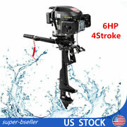 4-stroke 6hp Outboard Motor Engine Single Cylinder Boat Engines 2500rpm Usa