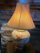 Vtg Porcelain And Brass Ethan Allen Oriental Inspired Chinese Pheasant Lamp