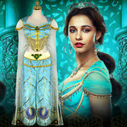 Aladin Cosplay Princess Jasmine Costume Blue Outfits Various Styles Available