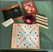 Vintage Game Rare Scrabble Collection Wooden Box Parker Brothers