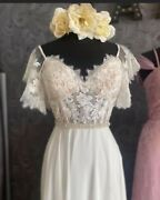 New Never Opened White One Heath Wedding Dress Size 0 With Removable Sleeves