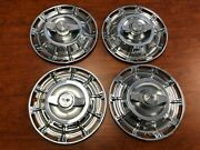 1959-1962 C1 Corvette Wheel Cover Hubcap Assembly Set With Spinners Ncrs