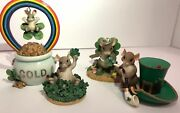 10 Valentines And St. Patrick's Day Themed Charming Tails Figurines