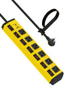Crst Heavy Duty Power Strip With Individual Switches Surge Protector 6-outlet