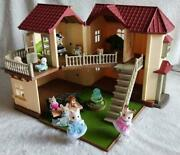 Sylvanian Families Big House With Light Doll Furniture Set