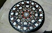30and039and039 Marble Inlay Table Top Pietra Dura Home Garden Antique Coffee Decor B99
