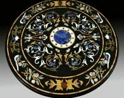2and039x2and039 Table Marble Inlay Top Antique Coffee Dining Pietra Dura Home Decor B120