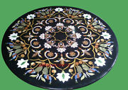30and039and039 Marble Inlay Table Top Pietra Dura Home Garden Antique Coffee Decor B106