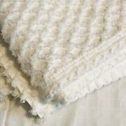 Vintage Chenille Bed Spread Full And Pillow Shams Set White Quilt Cover Usa