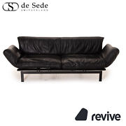 Sede Ds 140 Leather Sofa Black Three-seater Function Relaxfunktion Couch