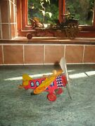 Lovely Working Orig. Marx U.s.a Tinplate Airplane Wind Up 1920/30 Tin Litho Toy