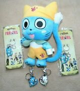 Fairy Tail Happy 9 Plush And 4 Keychains Great Eastern Entertainment Anime