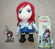Fairy Tail Rare Erza Scarlet 9 Plush And 2 Keychains Great Eastern Ent. Anime