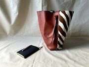 Gorgeous Old Celine Small Twisted Cabas Calfskin Felt Tote Bag Phoebe Philo