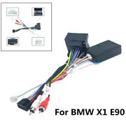 New Car Stereo Audio 16pin Android Power Cable Harness Connector For Bmw X1 E90