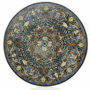 42 Marble Dining Table Top Inlay Rare Stones Round Center Coffee Table Ar1398