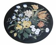 42 Marble Dining Table Top Inlay Rare Stones Round Center Coffee Table Ar1408