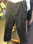 Army Surplus Black Ripstop M65 Bdu Trousers With Button Flies Size 36