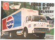 Amt Retro Deluxe Edition Ford C-600 City Delivery Truck Pepsi 125 Model Kit New