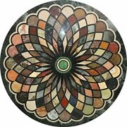 42 Marble Dining Table Top Inlay Rare Stones Round Center Coffee Table Ar1440