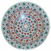 48 Marble Dining Table Top Inlay Rare Stones Round Center Coffee Table Ar1469