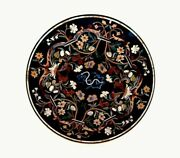 30and039and039 Marble Inlay Table Top Pietra Dura Home Garden Antique Coffee Decor B164