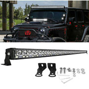 52inch 3500w Led Light Bar Flood Spot Offroad Driving 4x4 Lamp For Jeep Ford Suv
