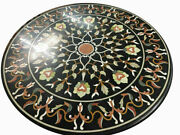 30and039and039 Marble Inlay Table Top Pietra Dura Home Flower Antique Coffee Decor B159