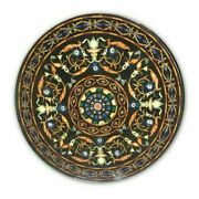 30and039and039 Marble Inlay Table Top Pietra Dura Home Garden Antique Coffee Decor B158