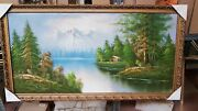 Painting Hand Painted On Linen Frame Leaf Gold Prices Various New