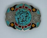 Johnson And Held Inlay Belt Buckle Handcrafted In The Us