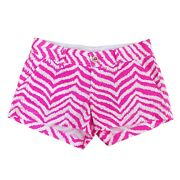 Lilly Pulitzer Womenandrsquos The Walsh Shorts 3andrdquo Tropical Pink Zebron Size 0