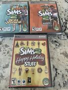 Lot Of 3 Brand New The Sims 2 Maccd Factory Sealed Bon Voyage,open For Business