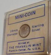 Franklin Mint Mini-coin New Jersey Silver State Flower Violet Usa 10mm Sterling