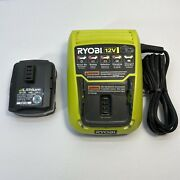 Oem Ryobi C120d 12v Charger And Cb120l 12v Lithium Ion Battery   Tested Shpsfree