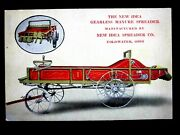 1911 Coldwater Ohio New Idea Gearless Manure Spreader Agriculture Advertising