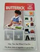 Vintage Butterick 447 Childs Soft Book Boys Girls Teaching Tool Sewing Pattern