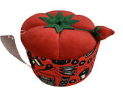 Small St. Jane Tomato Sewing Basket W/strawberry Top New With Tag 5.5