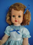 Vintage Ideal Poise Coos Doll Hard Plastic Joint Bent Knees 23 Tall 1956