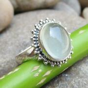 Womenand039s Ring Sterling Silver Chalcedony Gemstones Handmade Jewelry A1731