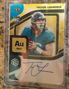 2021 Panini Elements Trevor Lawrence Au Gold On-card Auto /79 - Rookie
