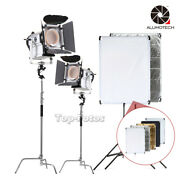 Dimming 3200k/5500k 2200w Led Light+c-stand+5in1 Reflector+stand For Studio