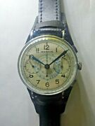 Marvin Vintage Valjoux 22 Swiss Chronograph Wristwatch 1940and039s Military Style