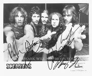 The Scorpions Band Signed Autograph 8x10 Rp Photo Rock You Like A Hurricane