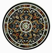30and039and039 Marble Inlay Table Top Pietra Dura Home Garden Antique Coffee Decor B125