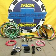 1960-89 Chevy Gmc Truck Main Fuse Dash Harness Kit + Ignition And Headlight Switch