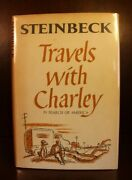 John Steinbeck Signed Travels With Charley First Edition 1st Printing 1962 Dj