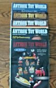5 Antique Toy World Magazines Catalogs Morphy Auctions Cast Iron Banks + More